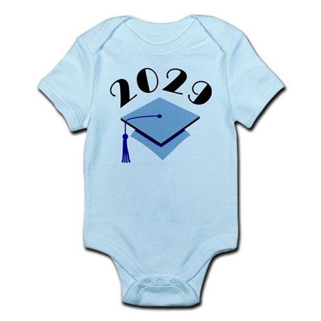 2029 Graduation Hat Logo Infant Bodysuit