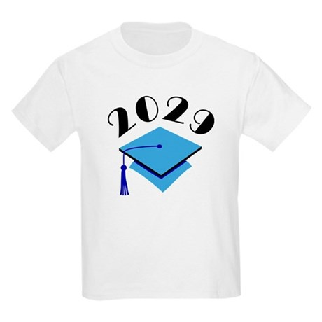 2029 Graduation Hat Logo Kids Light T-Shirt