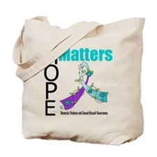 Hope Matters Purple&Teal Tote Bag