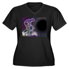 WillieBMX The Glowing Edge Women's Plus Size V-Nec