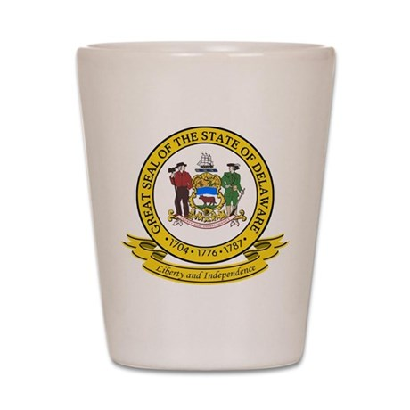 Delaware Seal Shot Glass