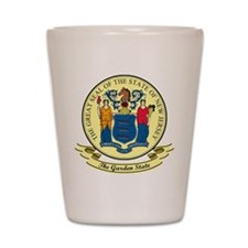 New Jersey Seal Shot Glass