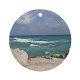 Rocky Beach Ornament (Round)