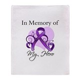 In Memory of Lupus Hero Throw Blanket