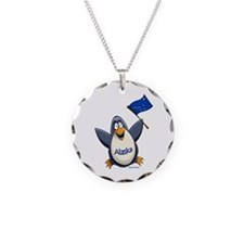 Alaska Penguin Necklace Circle Charm