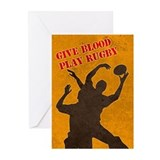 rugby lineout catch Greeting Cards (Pk of 10)