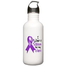 I Wear Purple Lupus Water Bottle