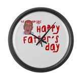 Crabby Father's Day Large Wall Clock