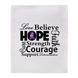 Love Hope Believe Lupus Throw Blanket