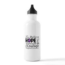 Love Hope Believe Lupus Water Bottle