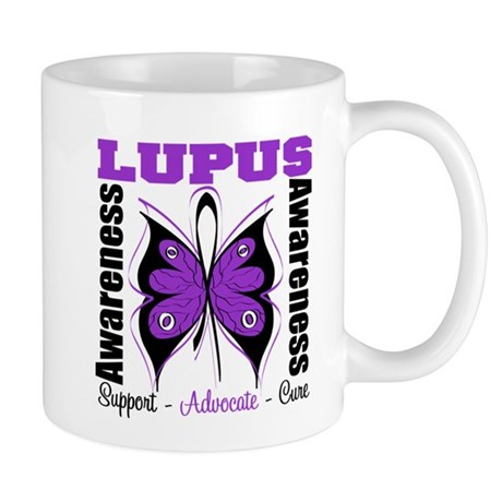 Lupus Awareness Butterfly Mug