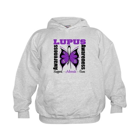 Lupus Awareness Butterfly Kids Hoodie