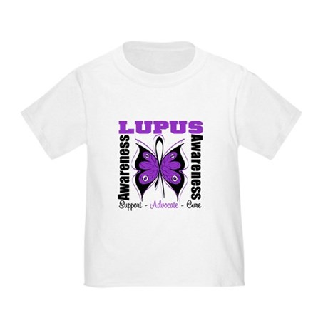 Lupus Awareness Butterfly Toddler T-Shirt