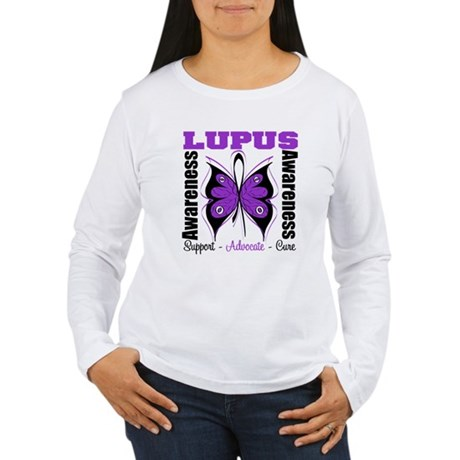 Lupus Awareness Butterfly Women's Long Sleeve T-Sh
