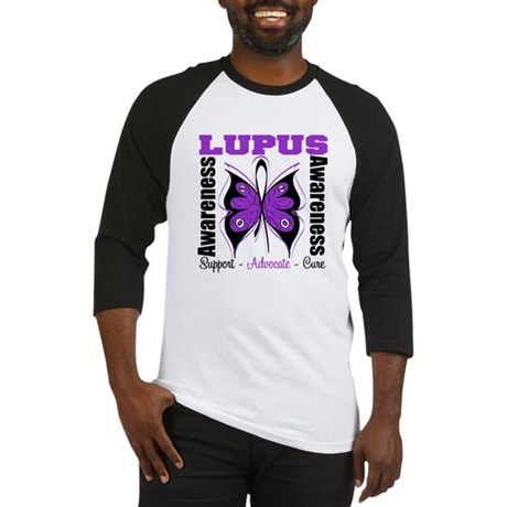 Lupus Awareness Butterfly Baseball Jersey