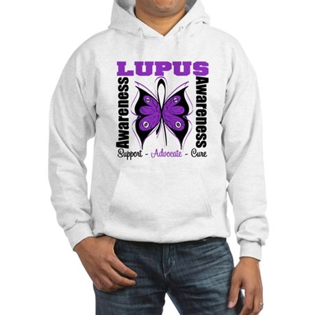 Lupus Awareness Butterfly Hooded Sweatshirt