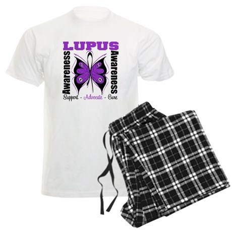Lupus Awareness Butterfly Men's Light Pajamas