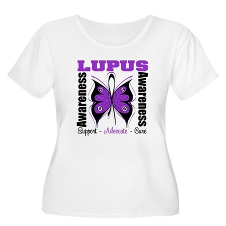 Lupus Awareness Butterfly Women's Plus Size Scoop