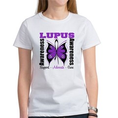 Lupus Awareness Butterfly Women's T-Shirt