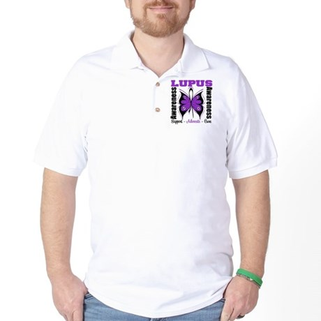Lupus Awareness Butterfly Golf Shirt