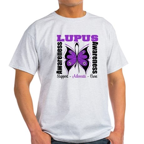 Lupus Awareness Butterfly Light T-Shirt