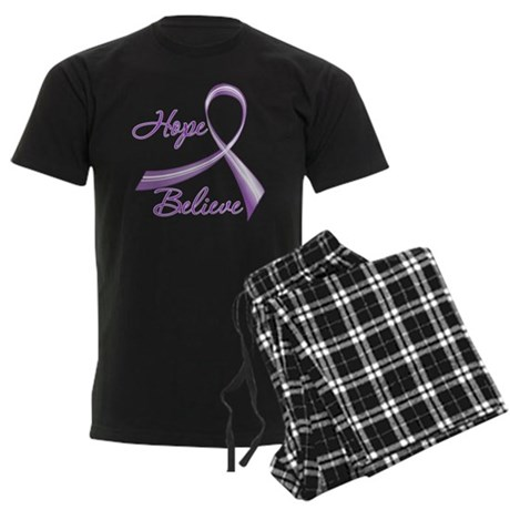 Hope Believe Lupus Men's Dark Pajamas