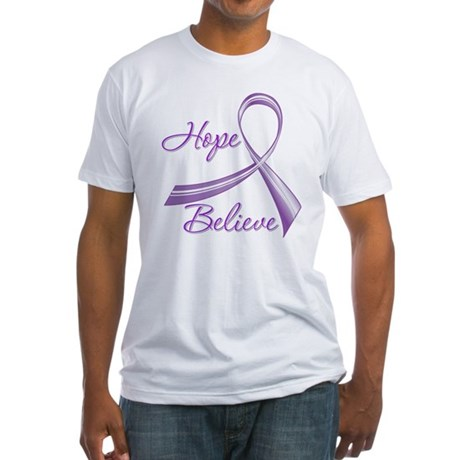 Hope Believe Lupus Fitted T-Shirt