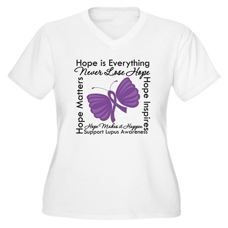 Lupus Hope Is Everything Women's Plus Size V-Neck