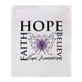 Hope Tattoo Butterfly Lupus Throw Blanket