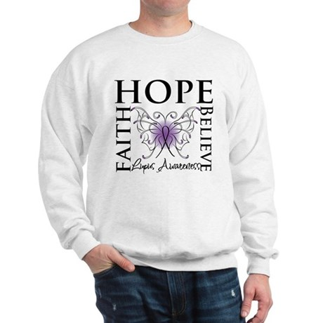 Hope Tattoo Butterfly Lupus Sweatshirt