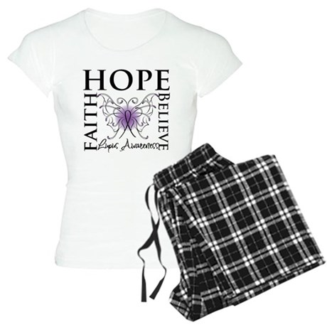 Hope Tattoo Butterfly Lupus Women's Light Pajamas