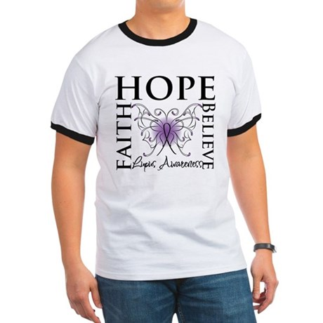 Hope Tattoo Butterfly Lupus Ringer T
