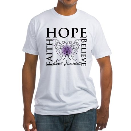 Hope Tattoo Butterfly Lupus Fitted T-Shirt