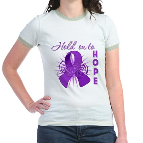 Hold on to Hope Lupus Jr. Ringer T-Shirt