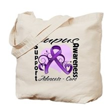 Lupus Awareness Ribbon Tote Bag
