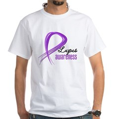 Lupus Grunge Ribbon White T-Shirt