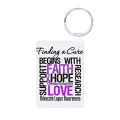 Finding a Cure Lupus Aluminum Photo Keychain