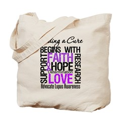 Finding a Cure Lupus Tote Bag