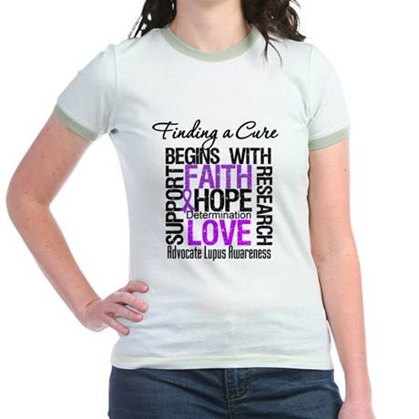 Finding a Cure Lupus Jr. Ringer T-Shirt