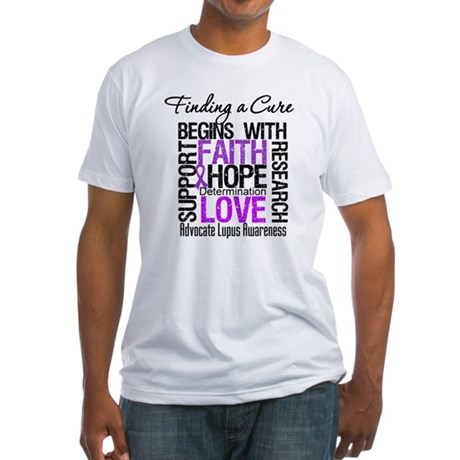 Finding a Cure Lupus Fitted T-Shirt