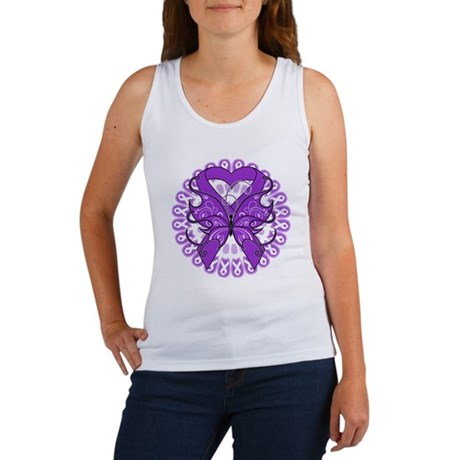 Lupus Butterfly Ribbon Women's Tank Top