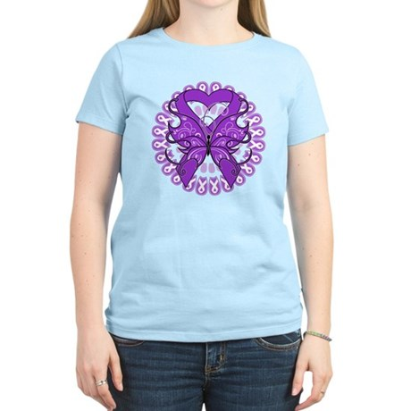 Lupus Butterfly Ribbon Women's Light T-Shirt