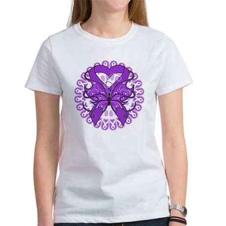 Lupus Butterfly Ribbon Women's T-Shirt