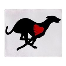 Greyhound Heart Hound Throw Blanket