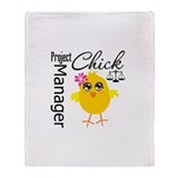 Project Manager Chick Throw Blanket