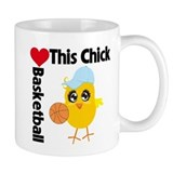 This Chick Loves Basketball Small Mug