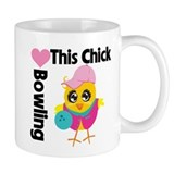 This Chick Loves Bowling Small Mug