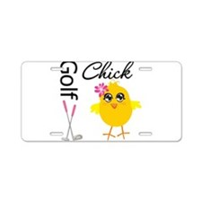 Golf Chick v2 Aluminum License Plate