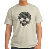 Lietuva Distressed Skull Pattern T-Shirt