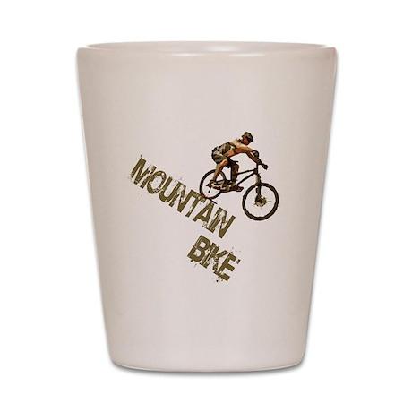 Mountain Bike Downhill Shot Glass